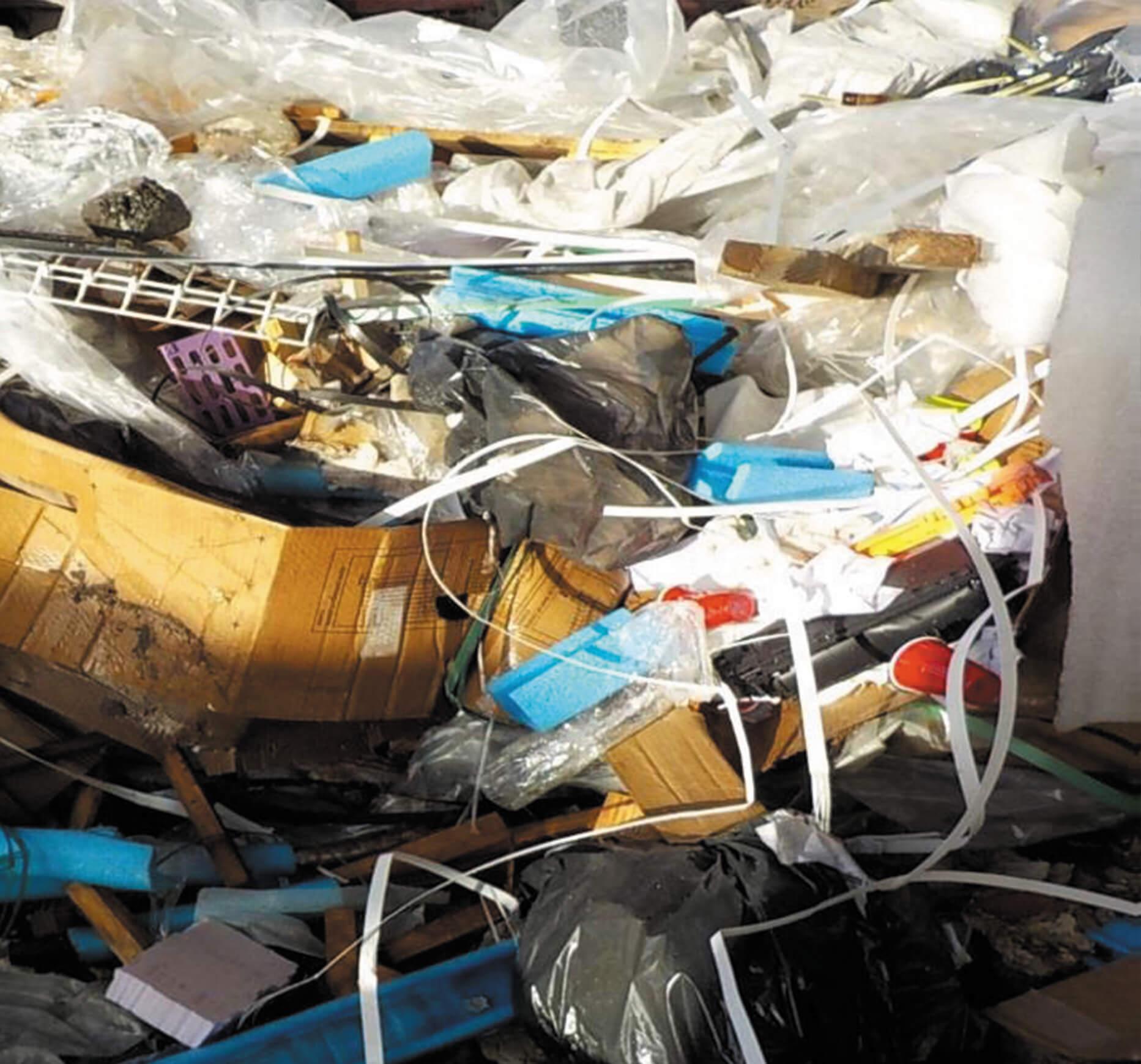 déchets en mélange du btp construction